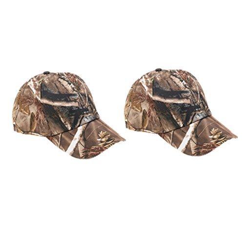 フォーラム哲学的昇るKOZEEY 2本 ポリエステル製 ウッドランド カモ サン キャップ 帽子 バイザー 狩猟/キャンプ/ハイキング/釣り適用