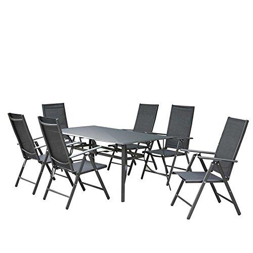 Paris Prix - Conjunto mesa & 6 sillones de jardín Benidorm ...