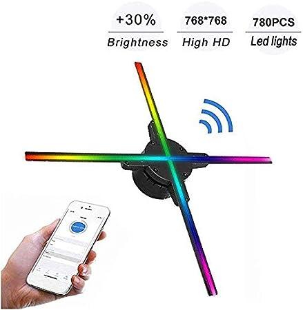 YLIK Ventilador Holograma 3D Display 27.5Inch de Gran tamaño y ...