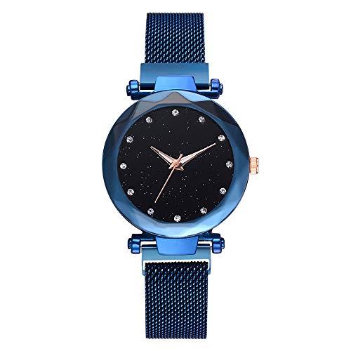 (Men Women Fashion Casual Quartz Mesh Belt Watch Sports Analog Wrist Watch Best Gifts )