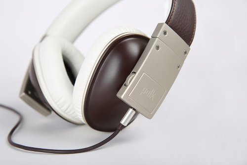 Polk Audio Buckle Headphones - Brown/Gold - with 3 button control and microphone Photo #4