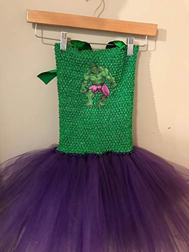 (Marvel Incredible Hulk Smash Superhero Kids Tutu Dress Costume (5Y -)