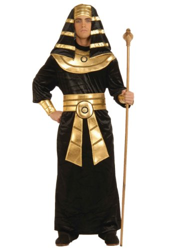 Forum Novelties Men's Egyptian Pharaoh Costume, Black/Gold, Medium ()