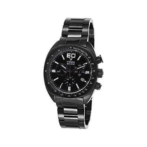 Reloj yema meangraf hombre soleillé negro y contadores negros - ymhf1448 - Idea regalo Noel - en Promo: Amazon.es: Relojes