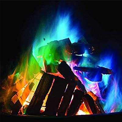 Multicolor Flame Powder Flame Dyeing Outdoor Bonfire Party Supplies: Toys & Games