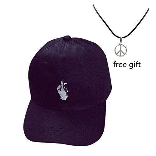 Caps  Toraway Unisex Fashion Baseball Cap Adjustable Hip Hop Finger Hat  Black