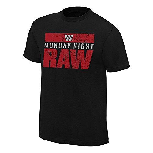 WWE Raw 25 Vintage T-Shirt Black Medium by WWE Authentic Wear