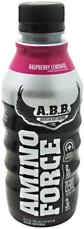 ABB Amino Force Lemonade, Raspberry, 12 Count