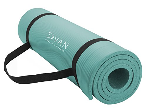 - Sivan Health and Fitness 1/2-InchExtra Thick 71-Inch Long NBR Comfort Foam Yoga Mat for Exercise, Yoga, and Pilates (Teal)
