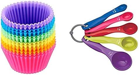 Appearancnes 5pcs Set cuill/ère /à mesurer en Plastique color/é Bricolage Cuisson Tasse /à mesurer cuill/ère