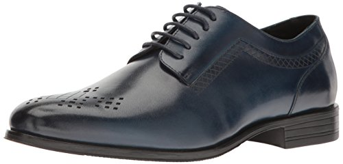 Stacy Adams Heren Somerton Plain-teen Lace-up Oxford Ink Blue