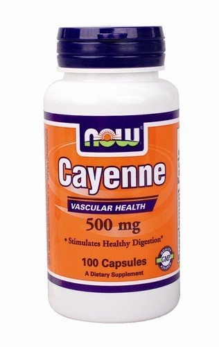 Now Foods Cayenne, 100 caps / 500 mg (Pack of 2)