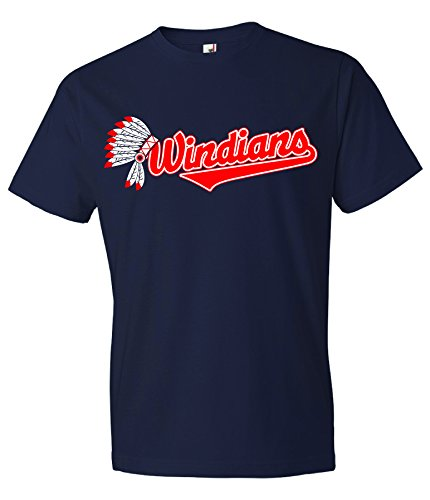 Local Imprint Windians Head T Shirt-2XL-Navy-S10 (Cleveland Indians Tee Shirts)