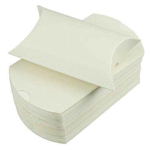White Gift Card Boxes Set of 25, Pillow Boxes by Chalkallaboutit (White)