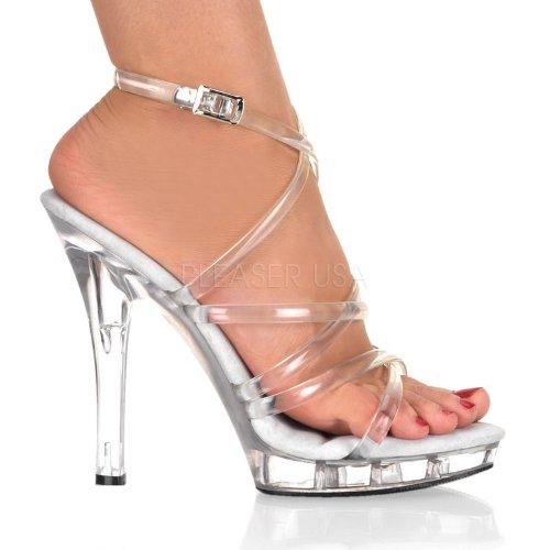 Sandalen Damen C Pleaser M Lip106 Transparent pqt75I7
