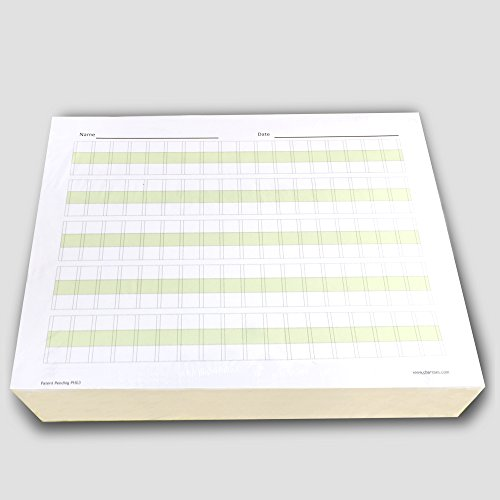 Channies Practice Handwriting & Printing Paper Workbook One Page A Day, 500 Pages Front & Back, 250 Sheets, Grades PreK  1st, Size 8.5 x 11