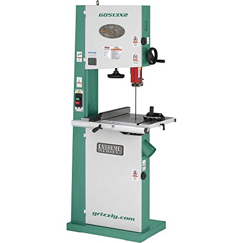Grizzly Industrial G0513X2-17 2 HP Bandsaw w Cast Iron Trunnion