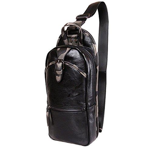 Messenger Shoulder Handbag Camouflage Fashion Chest Black Bag Casual Outdoor Men's n0Y8ZqqT