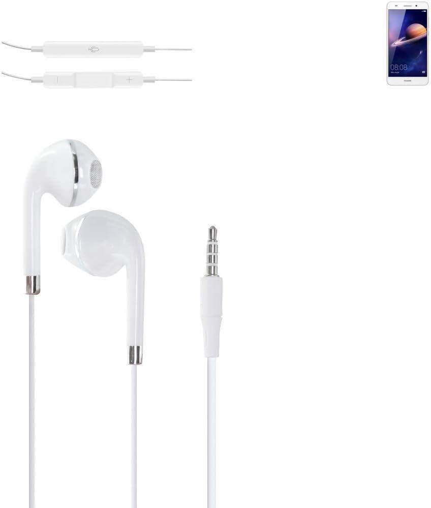 K-S-Trade® Auriculares Headphone Compatible con Huawei Y6 II con ...