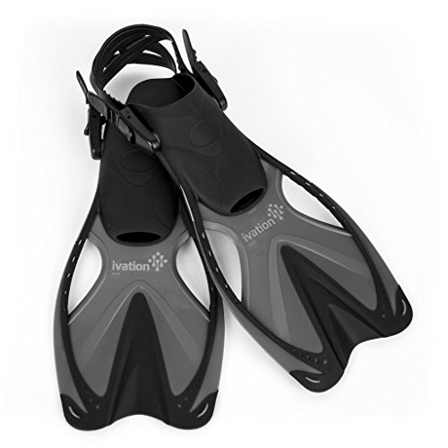 mens split fin snorkel set - 1