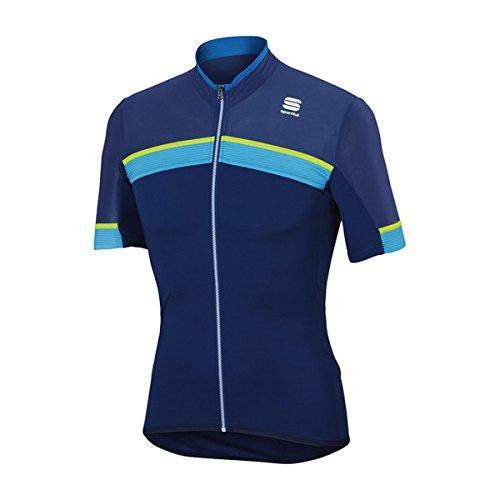 Sportful Men's Pista Cycling Jersey - A1101742 (blu twilight/electric blue-yellowfluo - L) from Sportful