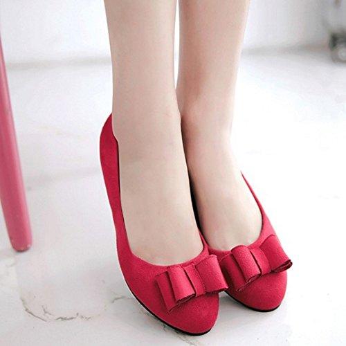 Rojo Sandalias Cuña Mujer Material SJJH con de Sintético TfWH0