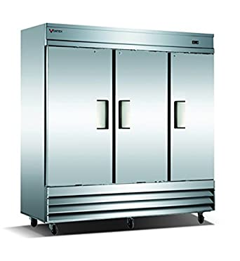 Amazon.com: Vortex Refrigeration Commercial Heavy Duty 3 Solid Door ...