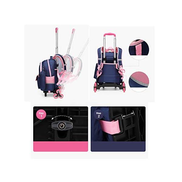 Zaino trolley per studenti, alla moda, con ruote, zaino a rullo per studenti/bambini/bambini, staccabile, scalata… 3 spesavip