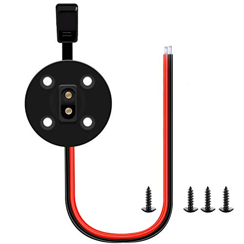 (OUOU SAE Cable SAE Socket Sidewall Port,SAE Solar Waterproof Quick Connect Panel Mount Universal Flush-Mountable Connector - with 8 Mounting Screws (SAE Plug))