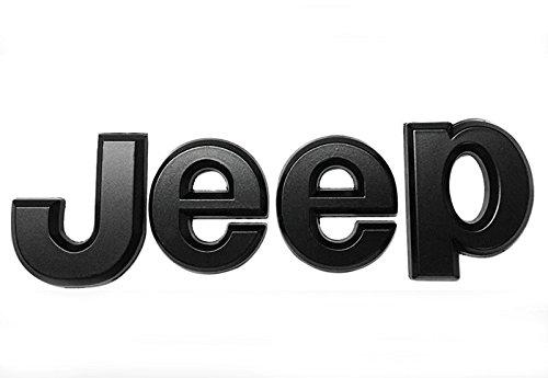 - Jeep Matte Black METAL Emblem Logo Badge 3M Adhesive backside Grille Trunk