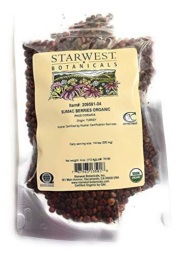 Sumac Berries Whole Organic 4 oz Starwest Botanicals
