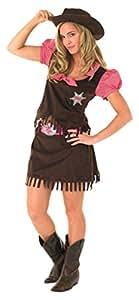 Rubie's 889507L - Disfraz de vaquera para niña, talla L