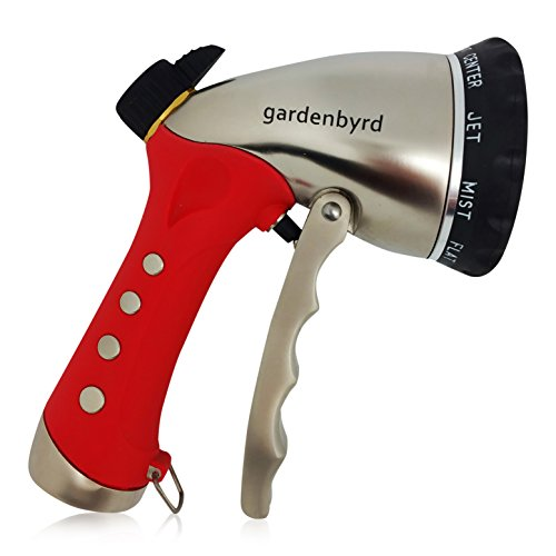 Gardenbyrd Hose Nozzle - Metal Garden Hose Nozzle with Press