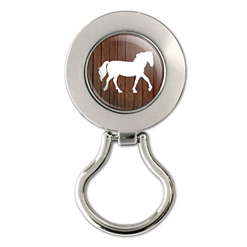 Horse Silhouette Cowboy Western Magnetic Metal Eyeglass ID Badge Holder