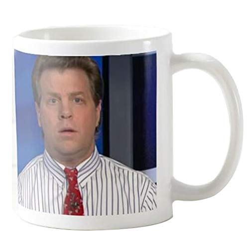 Gift for Journalist, Erik Wemple Commentator Coffee Mug, Tucker Carlson, Media Critic Coffee Tea Cup, Newspaper Office 11 Oz Ceramic White