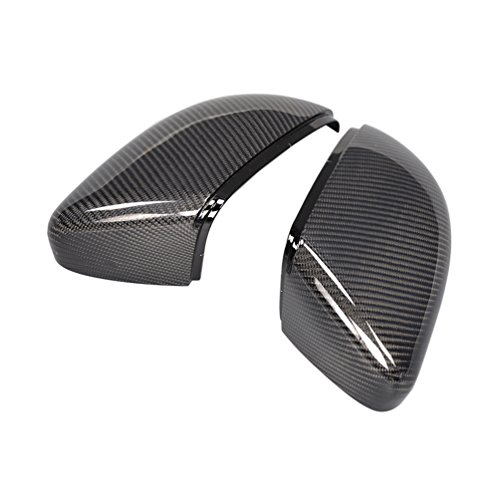Jc Golf Accessories - JC SPORTLINE 1:1 Replacement Carbon Fiber Rearview Mirror Covers fits Volkswagen VW Golf MK6 (Fits:Golf MK6 /Golf MK6 GTI/Golf MK6 R20) 2010-2014