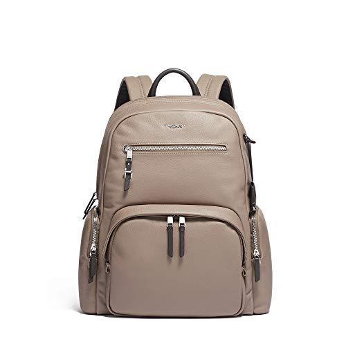 Leather Laptop Computer Backpack - TUMI - Voyageur Carson Leather Laptop Backpack - 15 Inch Computer Bag for Women - Gobi