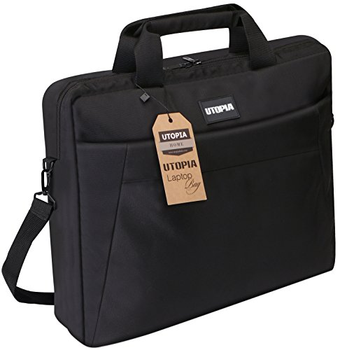 Laptop Bag, 15.6 inch Travel Laptop Bag, Business Travel Briefcase, Multi-Functional Compartments with Adjustable Padded Shoulder Strap – By Utopia Home