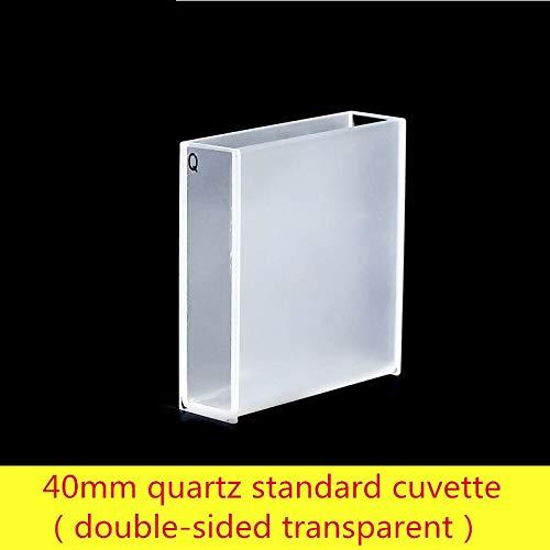 Laliva 40mm quartz standard cuvette (transparent on both sides) - (Color: acid)