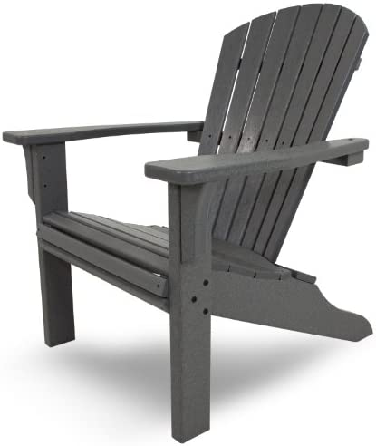 POLYWOOD SH22GY Seashell Adirondack Chair