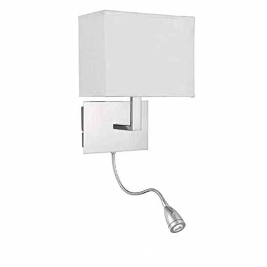 LED Lámpara de pared en cromo Estilo Bauhaus 1 x E27 hasta 60 W 230 V
