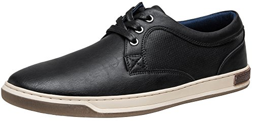 - JOUSEN Men's Fashion Sneakers 3 Eyelets Simple Style Casual Shoes (8,Black)
