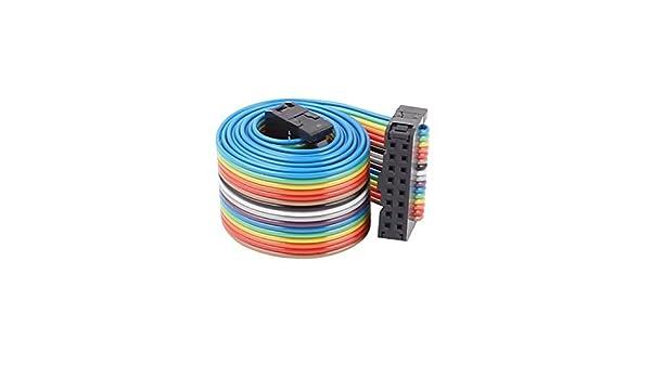 La Cinta eDealMax IDC Cable Plano del conector, F/F, 16P, 16 Way, 66 cm Longitud, 2, 54 mm Pitch, Rainbow: Amazon.com: Industrial & Scientific
