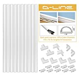 D-Line 157in Cord Cover Kit, Self-Adhesive Wire