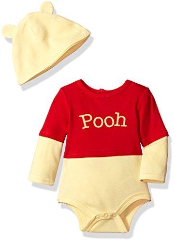 Disney Baby Boys' Pooh Costume Creeper, Yellow, -
