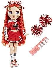 Rainbow High Cheer Modepop - Glamoureuze Outfits, Pom Poms & Cheerleader Pop - Ruby Anderson, Rode Modepop - Rainbow High Cheer-Serie - Perfect Cadeau voor Meisjes Vanaf 6 Jaar