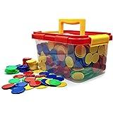 DimexSet de Juego de Mesa de fichas de póker, fichas de Juego, fichas de plástico con 1000 Piezas (4 Colores didácticos).