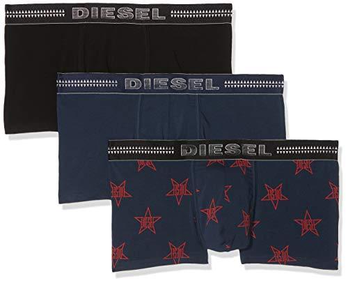 Diesel Men's UMBX-DAMIENTHREEPACK Boxer-Brief 3pack, Navy/Black/Blue Star Print, M