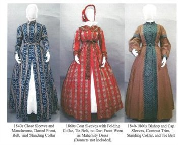 Wrapper Work Dress Morning Gown Maternity Dress 1840's-1860's Civil War Era Reproduction Sewing Pattern #118 (Pattern Only)