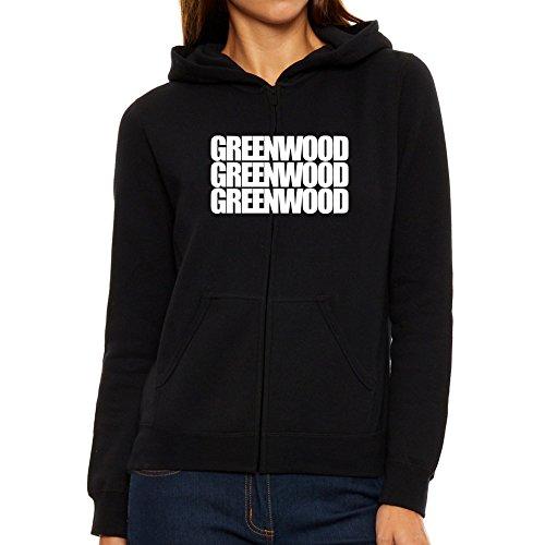Eddany Greenwood three words Women Zip Hoodie (Greenwood Zip City)